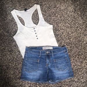 Urban Outfitters Cream/White Tank Top